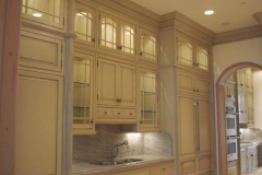 Custom butler's pantry cabinets.