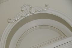 Custom pediment.