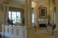 Great room custom made millwork.