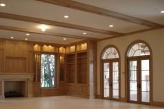 Great room custom millwork.