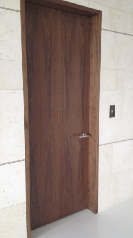 Interior contemporary flush custom doors.