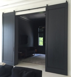 Contemporary barn doors.