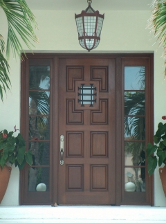 Custom door featuring sidelites.