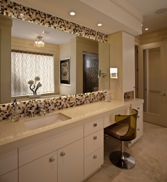 Modern and contemporary bathroom custom cabinets.