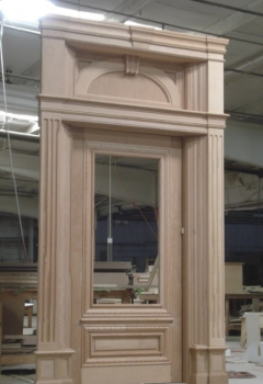 Custom door built to client specifications.