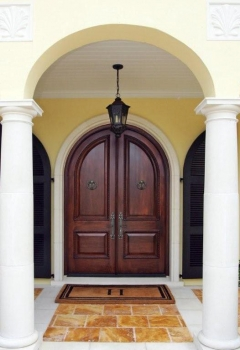 Custom entry double door.