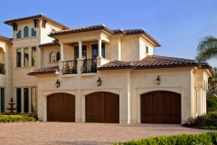 Custom built three car garage door.