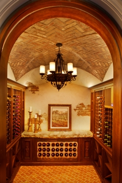 Custom built wine cellar.
