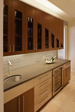Contemporary kitchen fabricated to client specifications.