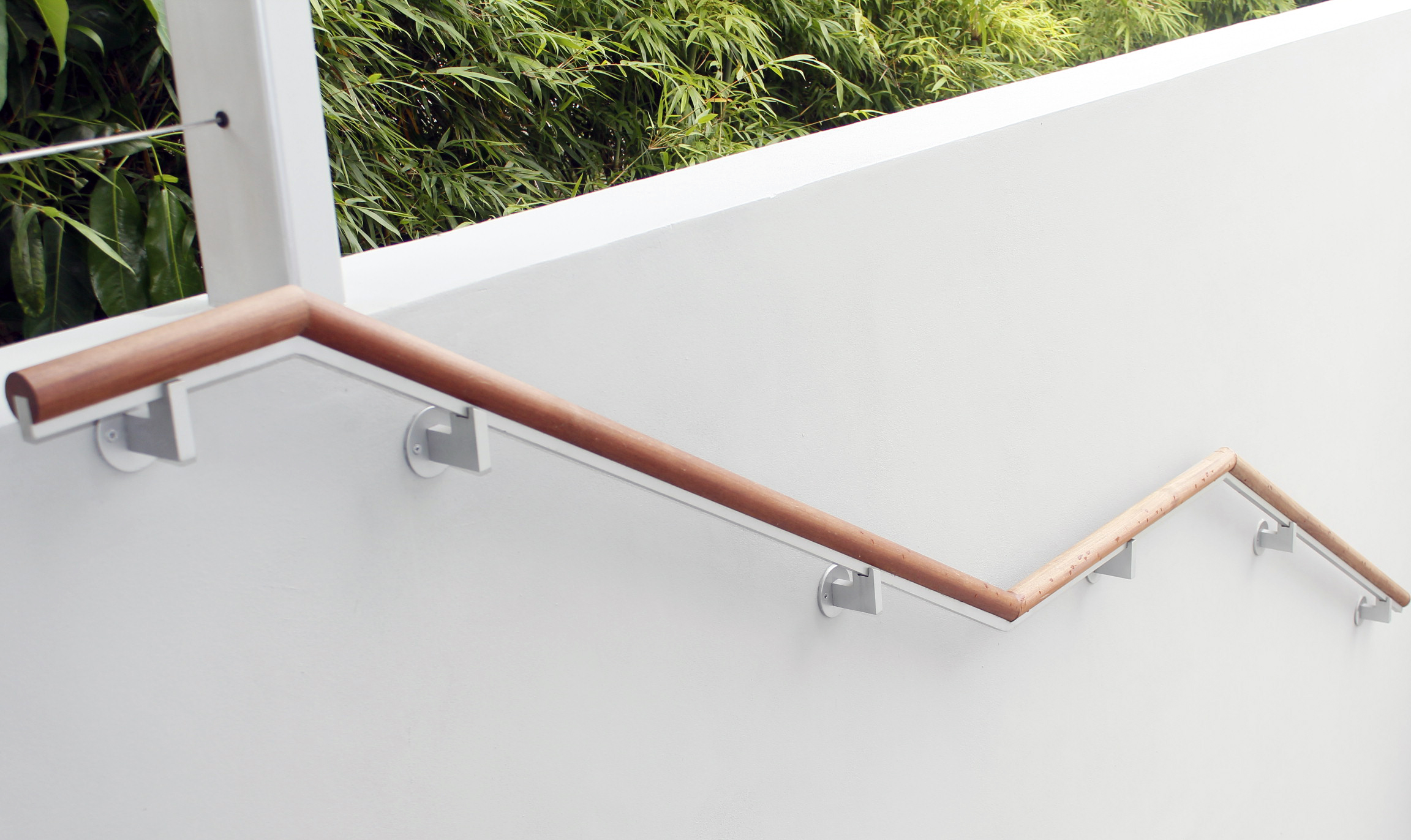 Modern and stylish outdoor railing.