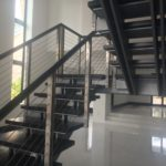 Another view of the floating staircase.
